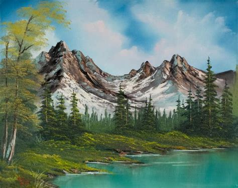 bob ross paintings original for sale bob ross sawtooth saddle painting for sale