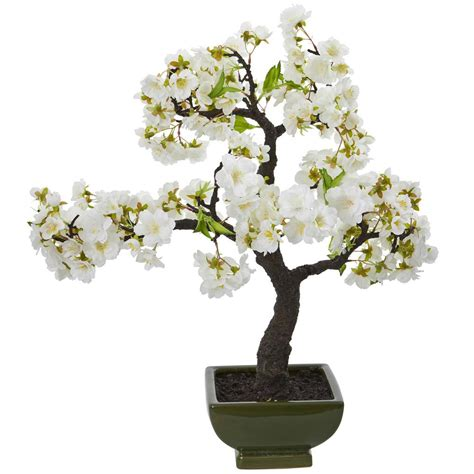 4 in 1 cherry tree home depot nearly cherry blossom bonsai artificial tree 4217 the home depot