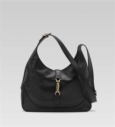 black leather the shoulder bag gucci jackie black leather medium shoulder bag all handbag fashion