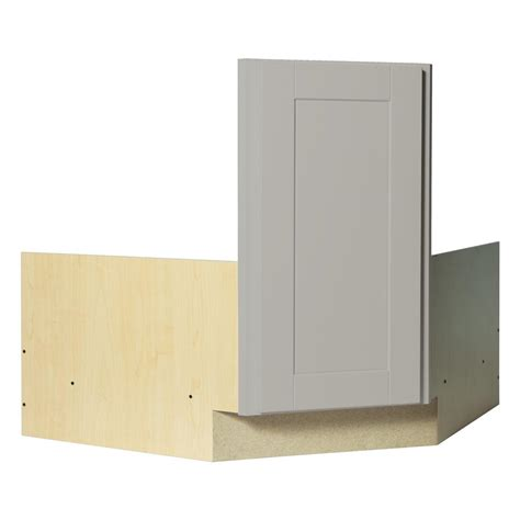 corner sink base kitchen cabinet hton bay shaker assembled 36x34 5x24 in corner sink
