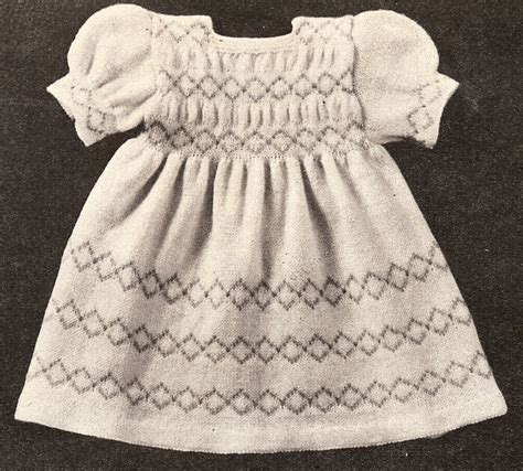 vintage knitting patterns for babies vintage knitting pattern baby infant dress 6 mos 1year ebay