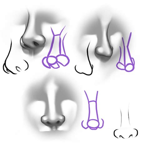 how to draw noses migz drawing 101 quot how to draw a nose quot
