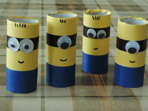 minion toilet paper roll craft toilet roll minions my kid craft