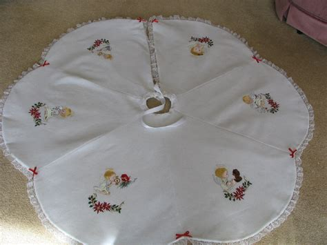 embroidered tree skirts machine embroidered white tree skirts with