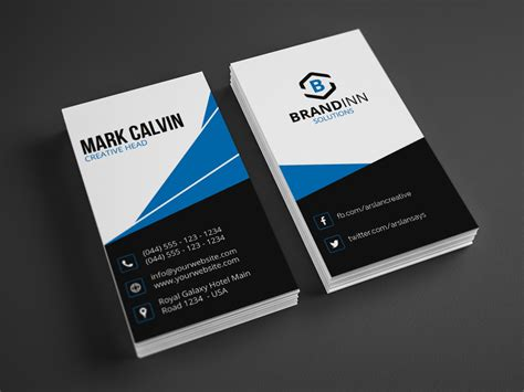 business card modern vertical business card 24 graphic