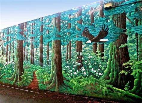 forest wall murals mural images