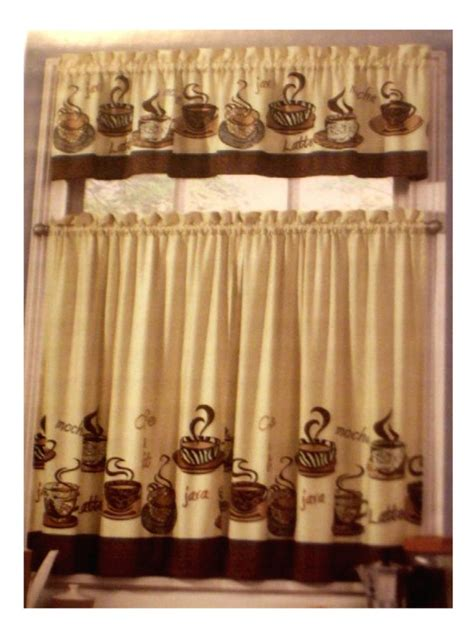 coffee themed kitchen curtains images