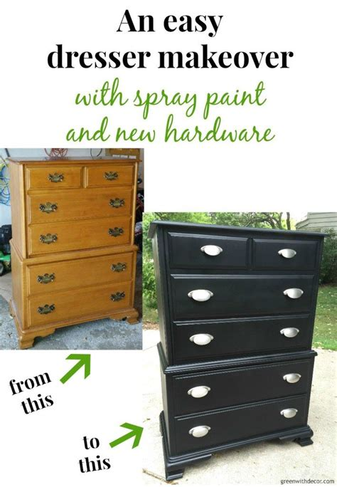 spray painting dresser a dresser makeover with spray paint dresser makeovers