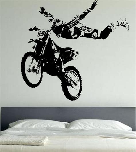 motor cross wall stickers motor bike wa161 sports ebay