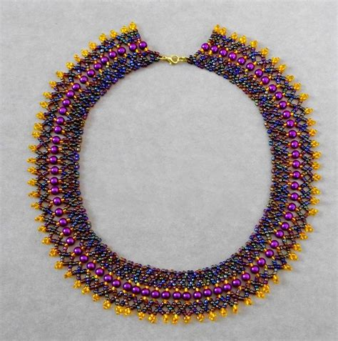bead necklace tutorial patterns colliers on beaded necklaces beading patterns
