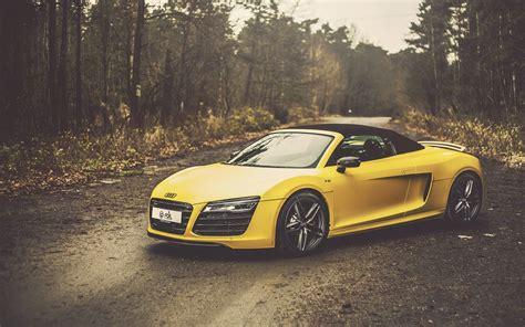 Yellow Car Wallpaper Hd by Audi R8 V10 Spyder Yellow Car 4k Hd Wallpaper 4k Cars