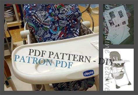 pdf pattern high chair cover patron et tuto pdf housse chaise haute chicco polly 2 in 1