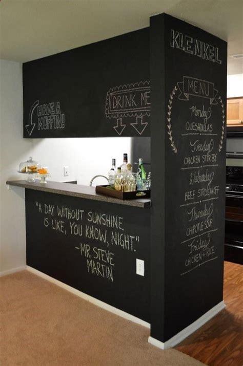 chalkboard paint ideas for bar 20 creative basement bar ideas hative