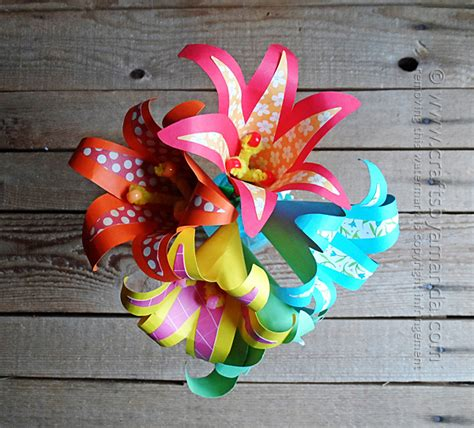 cardstock paper craft ideas check out tropical paper flowers it s so easy to make