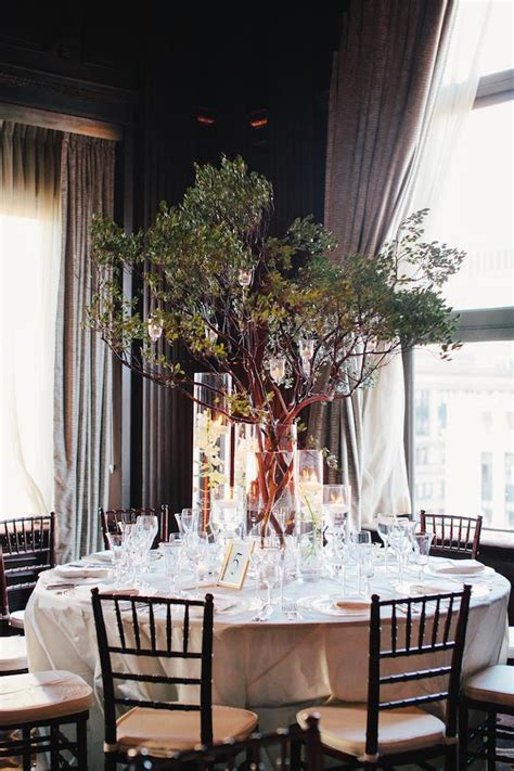 tree wedding centerpieces glamorous wedding centerpieces modwedding