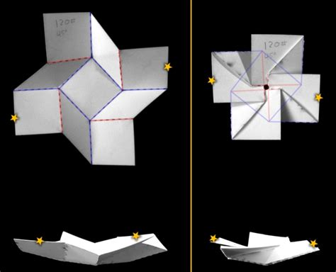 folded square origami paper bistable origami and degrees of freedom itai
