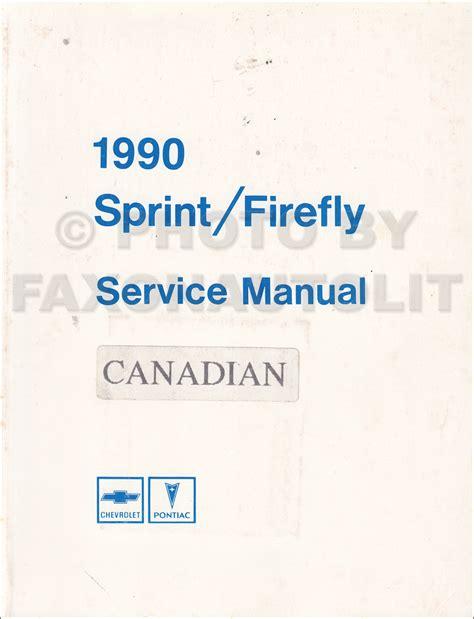 service manuals schematics 1992 pontiac firefly auto manual 1990 pontiac firefly chevy sprint repair shop manual original canadian