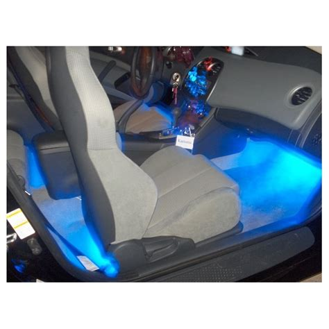 blue interior led neon glow lighting kit strips