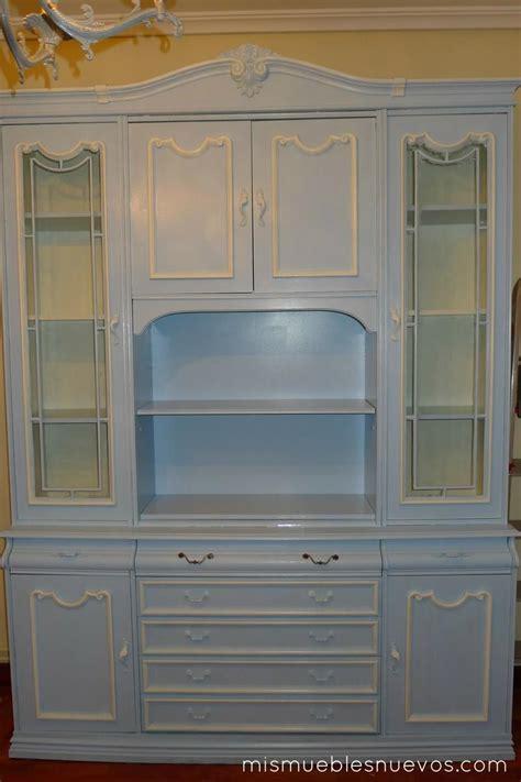 mueble de salon clasico mueble cl 225 sico de sal 243 n comedor pintado en azul muebles