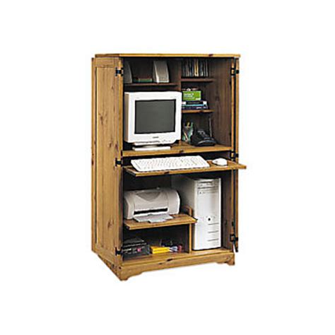 office depot computer armoire sauder computer armoire 54 18 h x 30 34 w x 21 d spiced