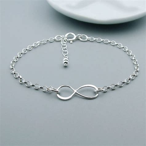 sterling silver sterling silver infinity bracelet by wished for