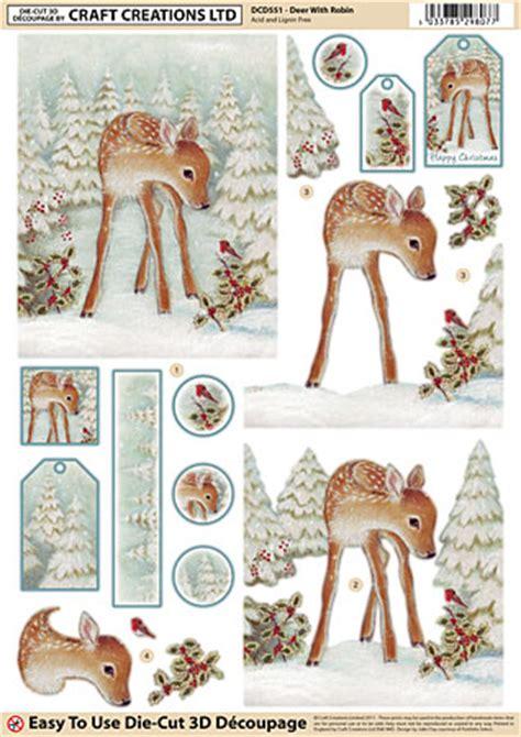 die cut decoupage grafton crafts 3d decoupage die cut deer with robin