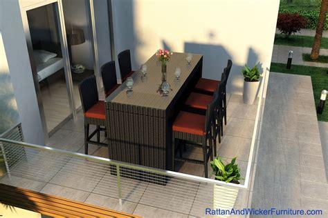 patio furniture bar table outdoor patio wicker furniture bar table dining set 6 bar
