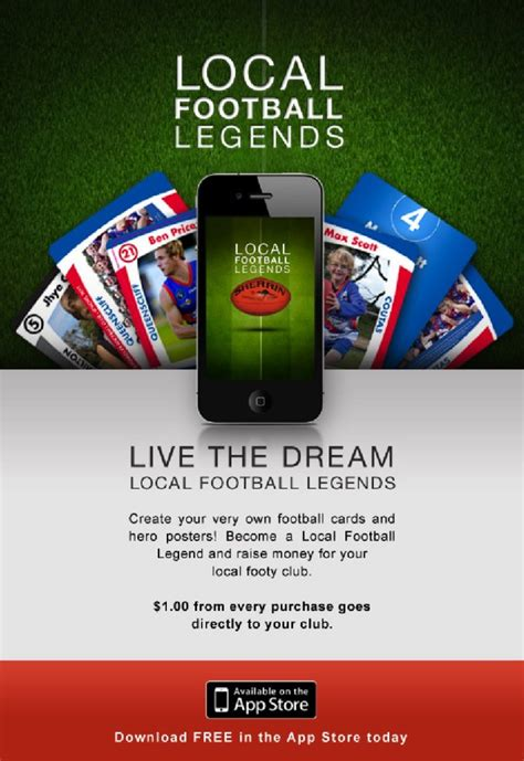 make your own footy card become a local football legend on your own footy card