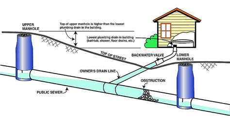 Sewage Backed Up In Basement by Sewer Backflow Preventer Diagram Sewer Free Engine Image