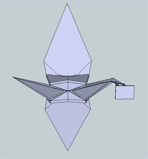 origami crane printable origami crane free 3d model 3d printable stl cgtrader