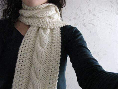 cable knit scarf pattern free cozy wooly cabled scarf
