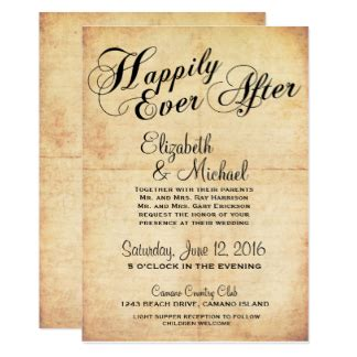 after invitations fairytale wedding invitations announcements zazzle