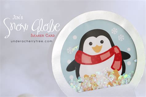 how to make a snow globe card a cherry tree jin s snow globe shaker card