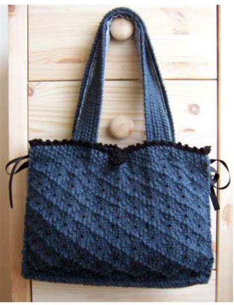 how to knit a purse bag knitting patterns bag organizer images