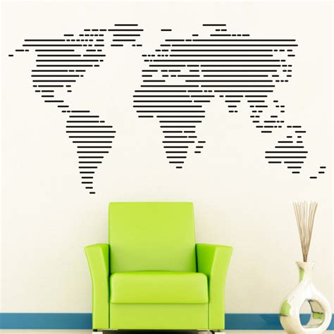 large world map wall sticker large world map wall stickers wall decals decal home decor