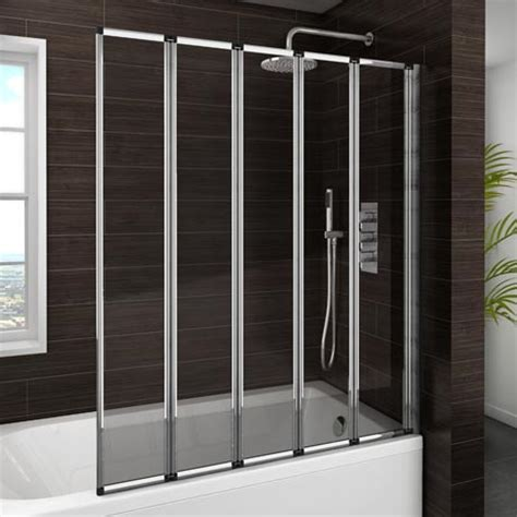 shower baths uk with screens haro folding bath screen 5 fold concertina at