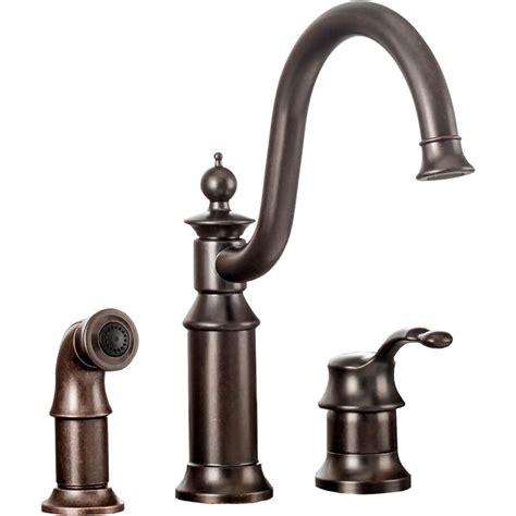 moen s711orb waterhill one handle kitchen faucet in rubbed bronze