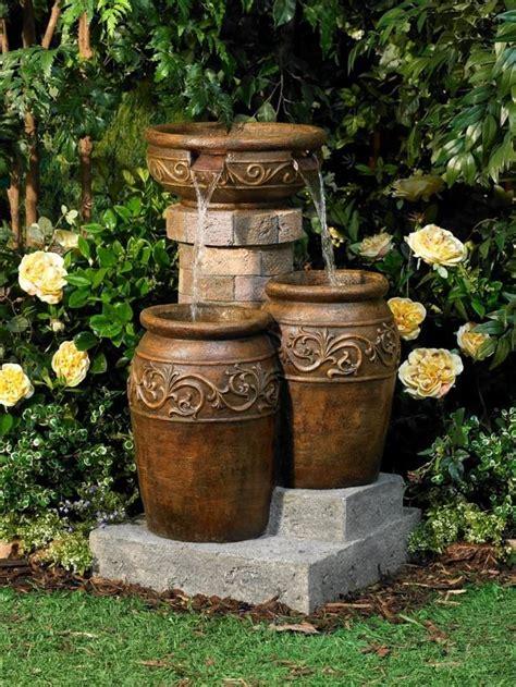modelos de fuentes para jardin instalar una fuente de agua decorativa en el jardin modelos