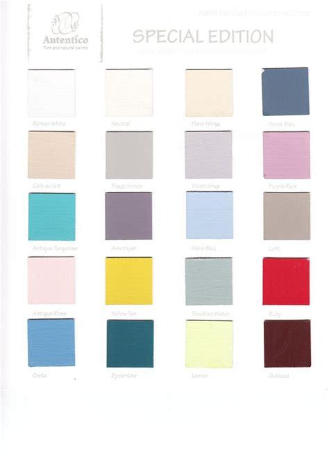 autentico vintage chalk paint colour chart 16 best images about color charts autentico vintage