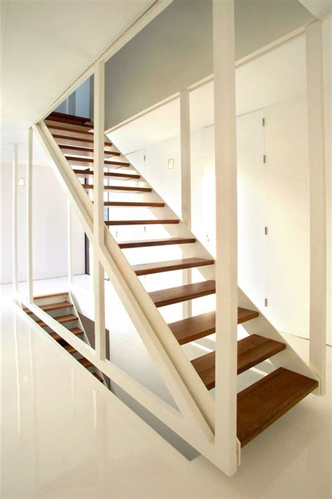 staircase ideas suspended stair design by 123dv in wood and white