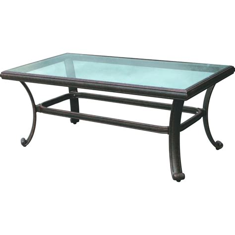 aluminum patio table darlee classic 42 x 24 inch cast aluminum patio coffee