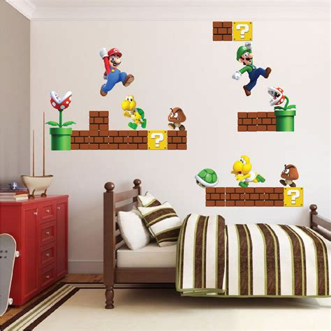 mario wall mural wall decal awesome mario brothers wall decals mario
