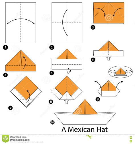 how to make an origami hat step by step how to make origami a mexican