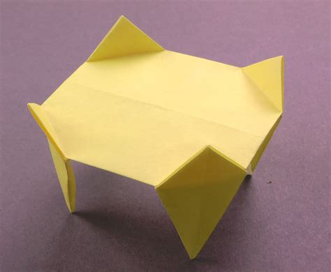 how to make origami table origami table tavin s origami