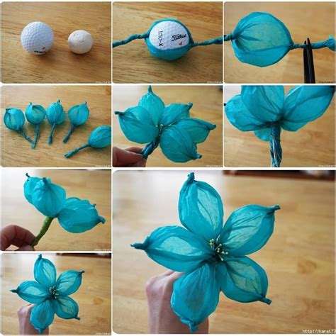 diy tissue paper crafts diy beautiful tissue paper flower using a golf
