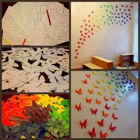 diy craft project paper butterflies wall diy craft projects