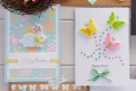 cards to make 4 easy easter cards to make hobbycraft