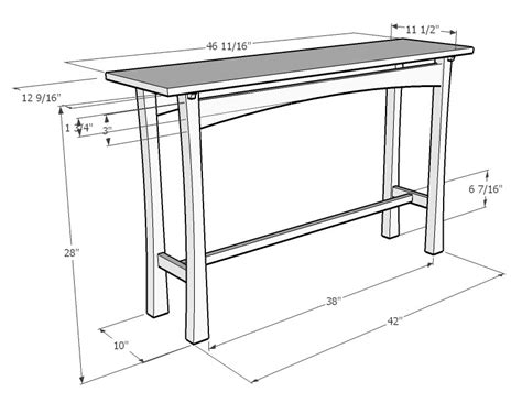 sofa table woodworking plans bench table chair chapter sofa table woodworking plans