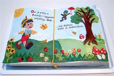 pinocchio picture book pinocchio book second birthday cake cakecentral
