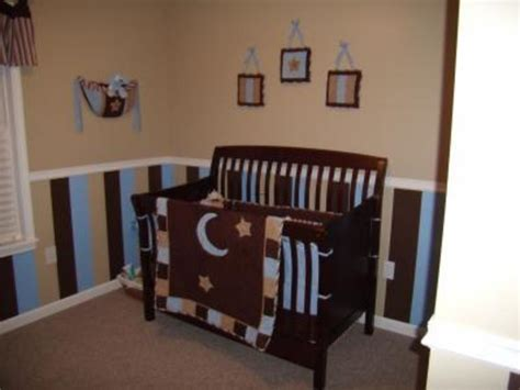 blue and brown nursery decorating ideas striped nursery decorating ideas for the walls of a baby